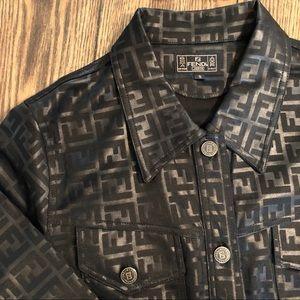 Fendi Jackets & Coats - Vintage fendi Zucca Monogram black logo jacket